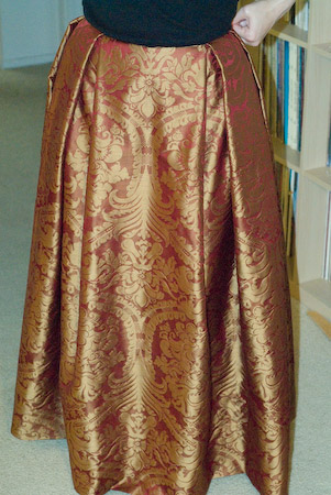 red and gold underskirt